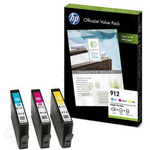 Triple Pack of HP 912 Colour Cartridges