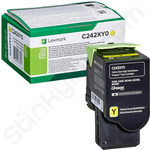 Extra High Capacity Lexmark C242XY0 Yellow Toner Cartridge (Return Program)