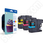 3-Colour Multipack of Brother LC123 Ink Cartridges