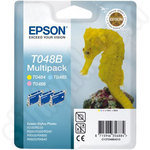 3-Colour Multipack of Epson T048B Ink Cartridges
