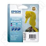 3-Colour Multipack of Epson T048C Ink Cartridges