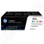 3 Colour Pack of HP 201X Toner Cartridges