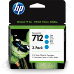 3-Pack of HP 712 Cyan Ink Cartridges