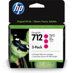 3-Pack of HP 712 Magenta Ink Cartridges
