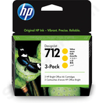 3-Pack of HP 712 Yellow Ink Cartridges