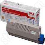 Original Oki 43865723 Cyan Toner Cartridge