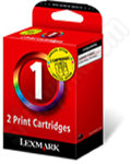 Twinpack of Lexmark 1 Colour Ink Cartridges