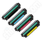 Multipack of Remanufactured HP CE250-4 Toners