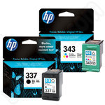 Twinpack of HP 337 and HP 343 Inks