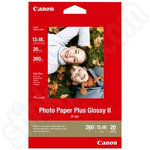 Canon PP-201 13x18 Glossy Photo Paper Plus II - 20 Sheets