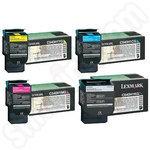 Multipack of High Capacity Lexmark C54x Toner Cartridges