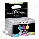 High Capacity Lexmark 100 Colour Multipack