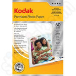 Kodak Premium Glossy 6x4 Photo Paper - 60 Sheets