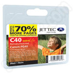 Extra Capacity Remanufactured Canon PG-40 Black Ink Cartridge
