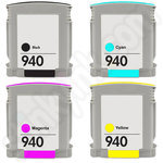 Multipack of Remanufactured HP 940 XL Ink Cartridges
