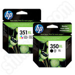Multipack of High Capacity HP 350 and 351 Ink Cartridges