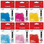6-Colour Multipack of Canon PGi-29 Ink Cartridges