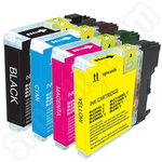 Multipack of Compatible Brother LC1100 ink Cartridges