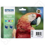 Twinpack of Epson T008 5-Colour Ink Cartridges