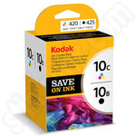 Twinpack of Kodak 10 Black and Colour Ink Cartridges