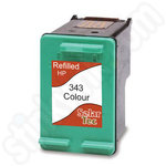 Refilled HP 343 Tri-Colour Ink Cartridge