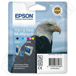 Multipack of Epson T007 and T008 Ink Cartridges