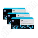Triple Pack of HP 771C Chromatic Red Ink Cartridges