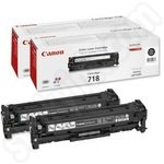Twinpack of Canon 718 Black Toner Cartridges