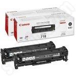 Twinpack of Canon 718 Black Toner Cartridges