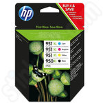 Multipack of High Capacity HP 950XL & 951XL Ink Cartridges