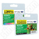 Multipack of Refilled HP 339 and 343 Ink Cartridges