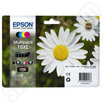 Multipack of High Capacity Epson 18 XL Ink Cartridges