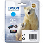 High Capacity Epson 26 XL Cyan Ink Cartridge