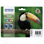Twinpack of Epson T009 5 Colour Ink Cartridges