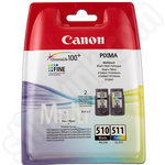 Twinpack of Canon PG-510 and CL-511 Ink Cartridges