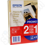 Twinpack of Epson 10x15 Premium Glossy Photo Paper - 80 Sheets