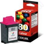 Lexmark 80 Colour Ink Cartridge