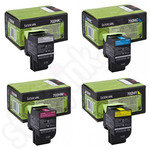 Multipack of High Capacity Lexmark 702H Toner Cartridges