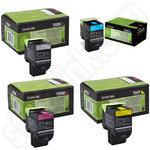 Multipack of Lexmark 702 Toner Cartridges