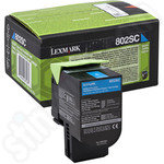 Lexmark 802SC Cyan Toner Cartridge
