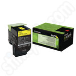 Low Use Lexmark 802Y Yellow Toner Cartridge