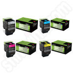 Multipack of Low Use Lexmark 802 Toner Cartridges