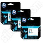 3 Pack of HP 711 Cyan Ink Cartridges