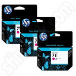 3 Pack of HP 711 Magenta Ink Cartridges