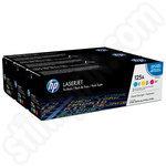 Colour Triple Pack of HP 125A Toner Cartridges