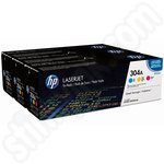 Colour Triple Pack of HP 304A Toner Cartridges