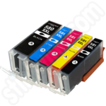 Compatible 5-Ink Multipack of Extra High Capacity Canon PGi-580 & CLi-581 XXL Ink Cartridges
