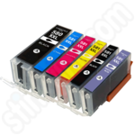 Compatible 6-Ink Multipack of Extra High Capacity Canon PGi-580 & CLi-581 XXL Ink Cartridges with Photo Blue