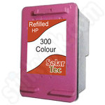 Refilled HP 300 XL Tri-Colour ink cartridge