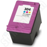 Refilled HP 304XL Tri Colour Ink Cartridge